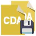 Format, File, Cda, Diskette Goldenrod icon