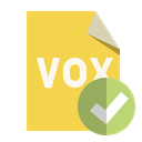 Format, File, vox, checkmark SandyBrown icon