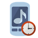 Clock, ringtone LightSteelBlue icon