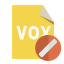 cancel, File, vox, Format SandyBrown icon