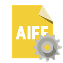 Format, Gear, File, Aiff Goldenrod icon