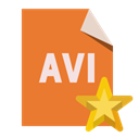 Avi, Format, File, star Chocolate icon