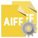 File, Gear, Format, Aiff Goldenrod icon