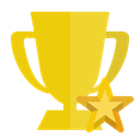 trophy, star Gold icon
