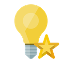ligthbulb, star Black icon