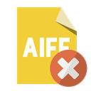 Close, Format, Aiff, File Goldenrod icon