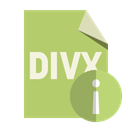 File, Divx, Info, Format DarkKhaki icon