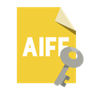 Format, Aiff, File, Key Goldenrod icon
