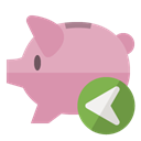 Bank, piggy, Left RosyBrown icon