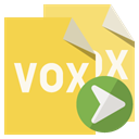 Format, vox, right, File SandyBrown icon