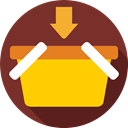 shopping basket, Shopping Store, online store, commerce, Supermarket, Commerce And Shopping SaddleBrown icon