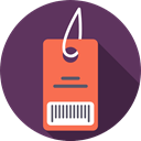 Barcode, Shop, price tag, tag, Price, shopping, Label, Commerce And Shopping DarkSlateBlue icon