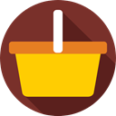 Supermarket, shopping basket, Shopping Store, online store, Commerce And Shopping, commerce SaddleBrown icon