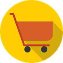 commerce, Supermarket, Shopping Store, online store, Commerce And Shopping, shopping cart Gold icon
