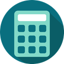 Calculating, maths, Technological, calculator, technology, Commerce And Shopping Teal icon
