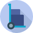 transport, trolley, packages, commerce, Logistics Delivery, Boxes, Delivery, Commerce And Shopping, Cart Icon