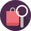 Shopper, Commerce And Shopping, shopping, search, Supermarket, Business, shopping bag, commerce, Bag DarkSlateGray icon
