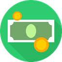Commerce And Shopping, Coins, Cash, stack, Change, Money, Business, Notes, Currency MediumSeaGreen icon