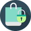 commerce, Commerce And Shopping, Bag, Shopper, shopping bag, Business, Supermarket, shopping DarkSlateGray icon