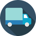 Delivery Truck, truck, vehicle, transportation, Delivery, Cargo Truck, transport, Automobile DarkSlateGray icon