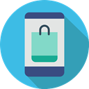 Commerce And Shopping, mobile phone, smartphone, technology, cellphone, online shop MediumTurquoise icon