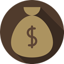banking, Commerce And Shopping, Money, money bag, Dollar Symbol, Business, Currency, Business And Finance, Bank DarkKhaki icon
