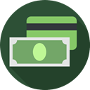 Cash, Currency, Credit card, Business, Debit card, Commerce And Shopping, payment method, banking DarkSlateGray icon
