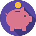 piggy bank, savings, funds, save, Business And Finance, coin, Money DarkSlateBlue icon