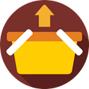 Shopping Store, online store, Commerce And Shopping, shopping basket, Supermarket, commerce SaddleBrown icon