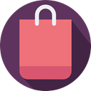 Business, shopping, shopping bag, Supermarket, commerce, Commerce And Shopping, Shopper, Bag LightCoral icon