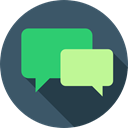 Chat, Multimedia, speech bubble, ui, Conversation, Communication DarkSlateGray icon