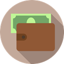 wallet, Holder, Notes, Billfold, Commerce And Shopping, Business And Finance, card, Money Tan icon