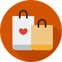 Business, commerce, shopping bag, Supermarket, shopping, Shopper, Commerce And Shopping, Bag Chocolate icon