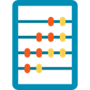 maths, mathematics, Abacus, mathematical, calculator, Business, miscellaneous, Calculating, Tools And Utensils DarkCyan icon