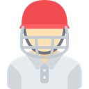 Avatar, Cricket Player, Sporty, people, athletic, Sports And Competition LightGray icon