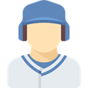 athletic, Baseball Player, people, Sporty, Sports And Competition, Avatar Lavender icon