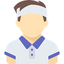 Tennis Player, athletic, people, Sporty, Sports And Competition, Avatar Lavender icon