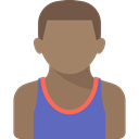 people, Avatar, Sports And Competition, Sporty, athletic, Basketball Player Gray icon