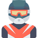 Motorcyclist, Avatar, Sports And Competition, people, athletic, Sporty Tomato icon