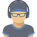 Sporty, Sports And Competition, Avatar, people, athletic, Shooter DimGray icon