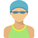 Sporty, Sports And Competition, people, swimmer, athletic, Avatar BurlyWood icon