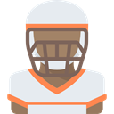 Avatar, Sports And Competition, athletic, American Football Player, people, Sporty Lavender icon