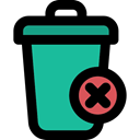 Multimedia Option, Can, miscellaneous, Trash, interface, recycling, Tools And Utensils, Garbage, delete, Bin Black icon