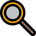 Tools And Utensils, zoom, search, miscellaneous, Loupe, detective, magnifying glass Black icon