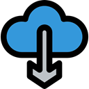 Data, ui, interface, download, Cloud computing, Multimedia, storage, Multimedia Option DodgerBlue icon