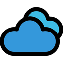 sky, Cloudy, Cloud computing, weather, Clouds, Cloud DodgerBlue icon