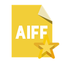 Aiff, Format, File, star Goldenrod icon