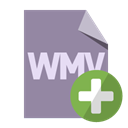 Format, Add, File, Wmv LightSlateGray icon