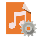 Audio, Gear, File, type Chocolate icon