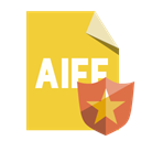 Aiff, File, Format, shield Goldenrod icon